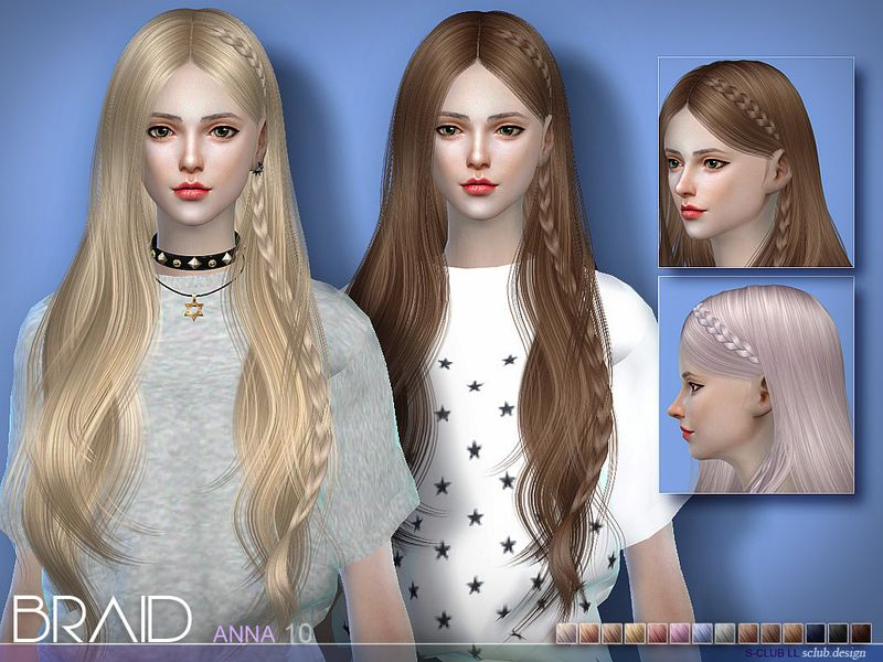 New Braid For Anna Hairstyles Found In Tsr Category 39 Sims 4 Female Hairstyles 39 Sims Hair Sims 4 Sims
