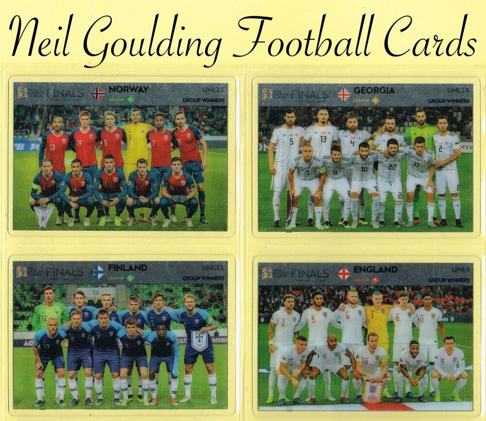 Panini Road To Euro 2020 Uefa Nations League Team Groups Unl1 To Unl18 Ebay League Football Cards National