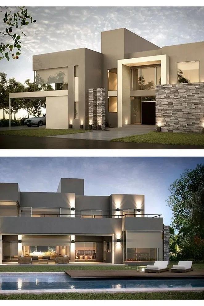 22 Stunning Modern Dream House Exterior Design Ideas 14 Bloghenni Online Minimalist House Design Modern Exterior House Designs Architecture House