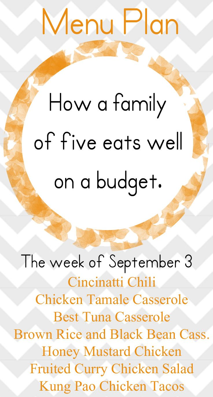 September Menu Planning Menu planning, Eat on a budget