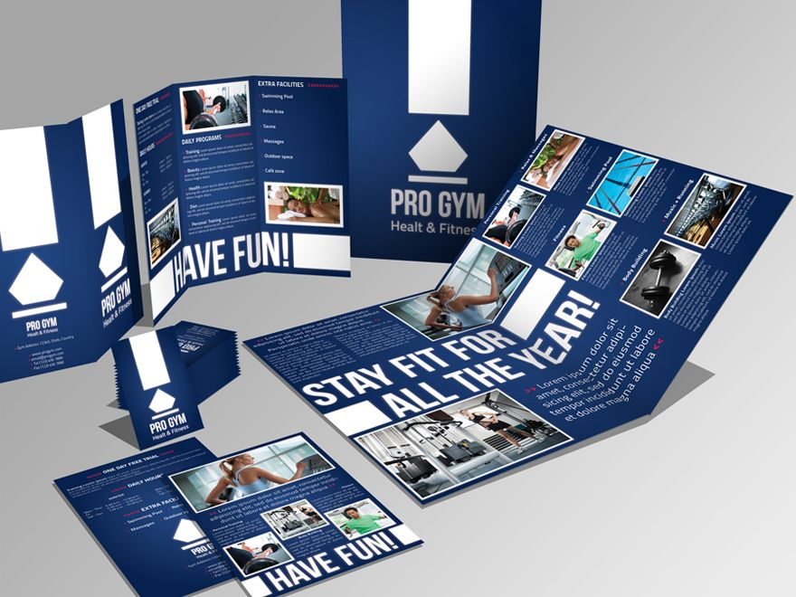 4 pages brochure trifold flyer business card by andre28 via