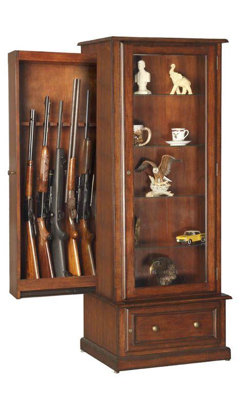 Hidden Gun Cabinet for 10 guns, traditional style fine furniture ...
