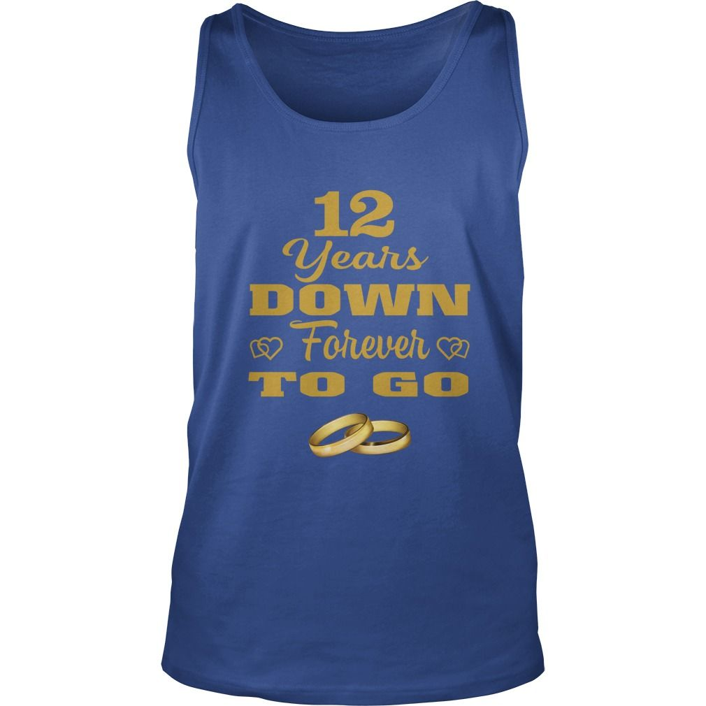 Great T Shirt For Husband Wife 12th Wedding Anniversary Gift Gift