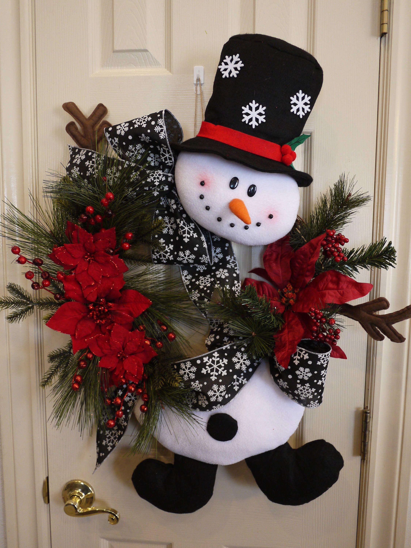 Grapevine Snowman Wreath Christmas Grapevine Wreath Christmas Snowman Wreath Christmas C Christmas Wreaths Christmas Door Decorations Christmas Wreaths Diy