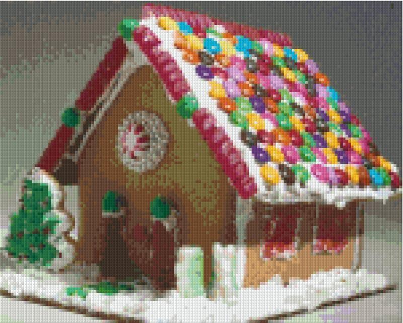 Wir bauen uns ein Lebkuchenhaus (in petit point)