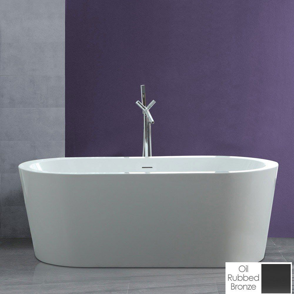 Wyatt 67 Inch Acrylic Double Ended Freestanding Tub No Faucet Drillings