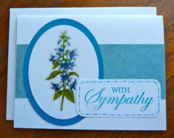 Etsy your place to buy and sell all things handmade vintage and beautiful floral sympathy card special card for sending condolences lovely sympathy card paper handmade greeting card m4hsunfo