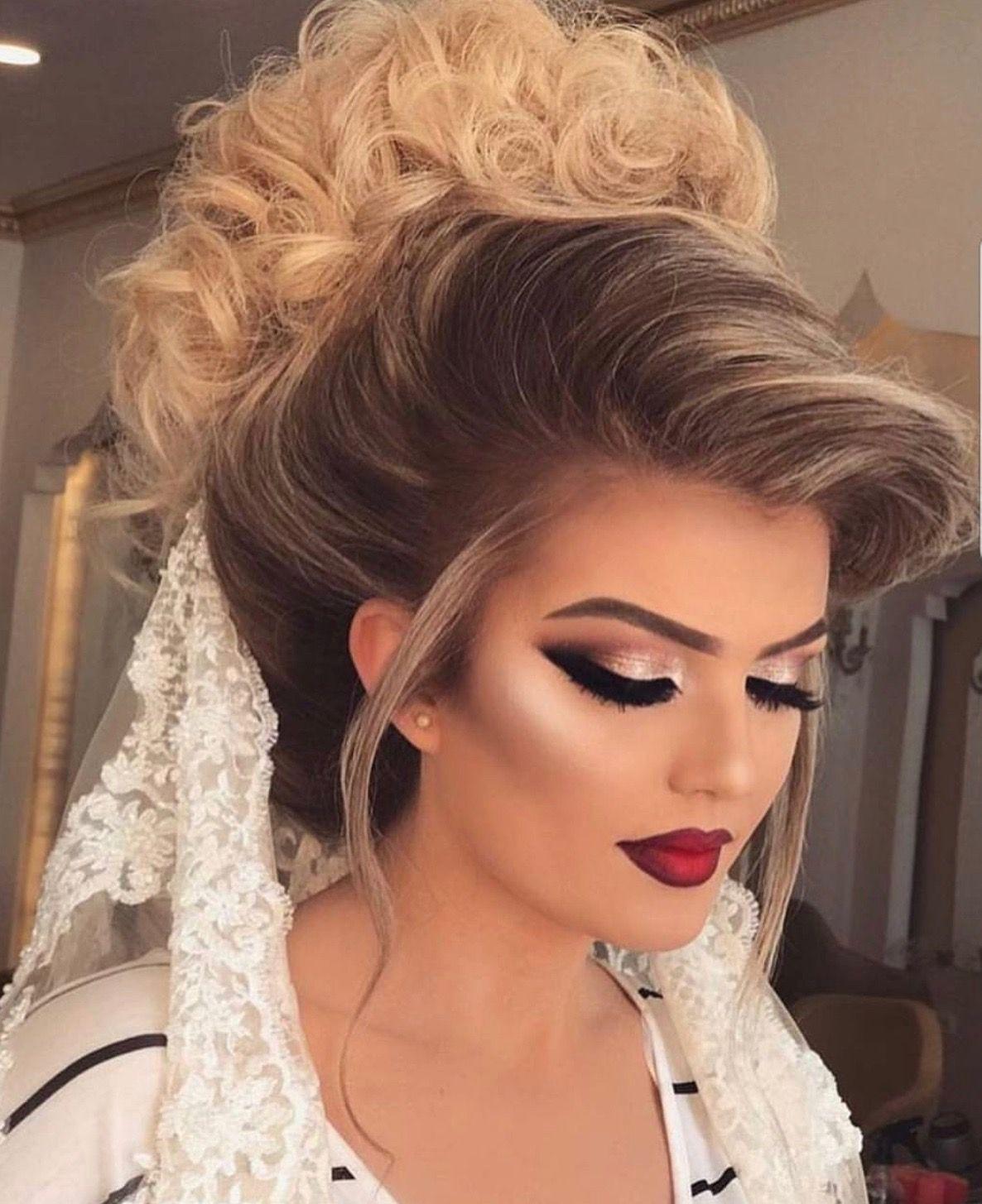 Pin By Nadine Elnatshe On Beauty Wedding Hair And Makeup Bride Makeup Bridal Makeup Looks