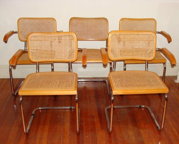 Wicker metal dining chairs