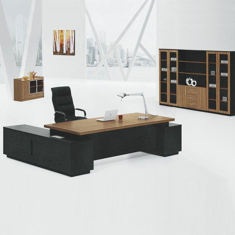 Custom Professional Luxury Melamine Office Furniture Table Executive Ceo Desk