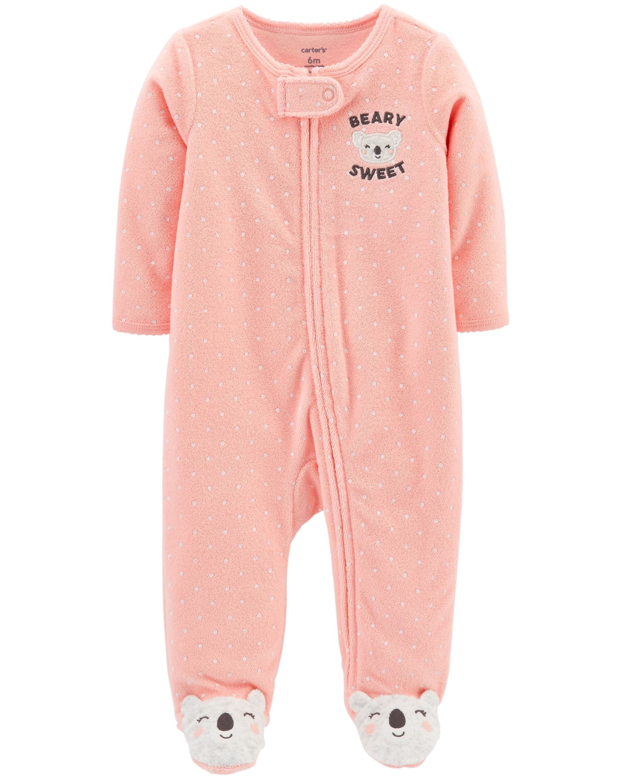 13a61c5015997 Polka Dot Zip-Up Terry Sleep & Play | Baby Momo outfit & gift | Baby ...