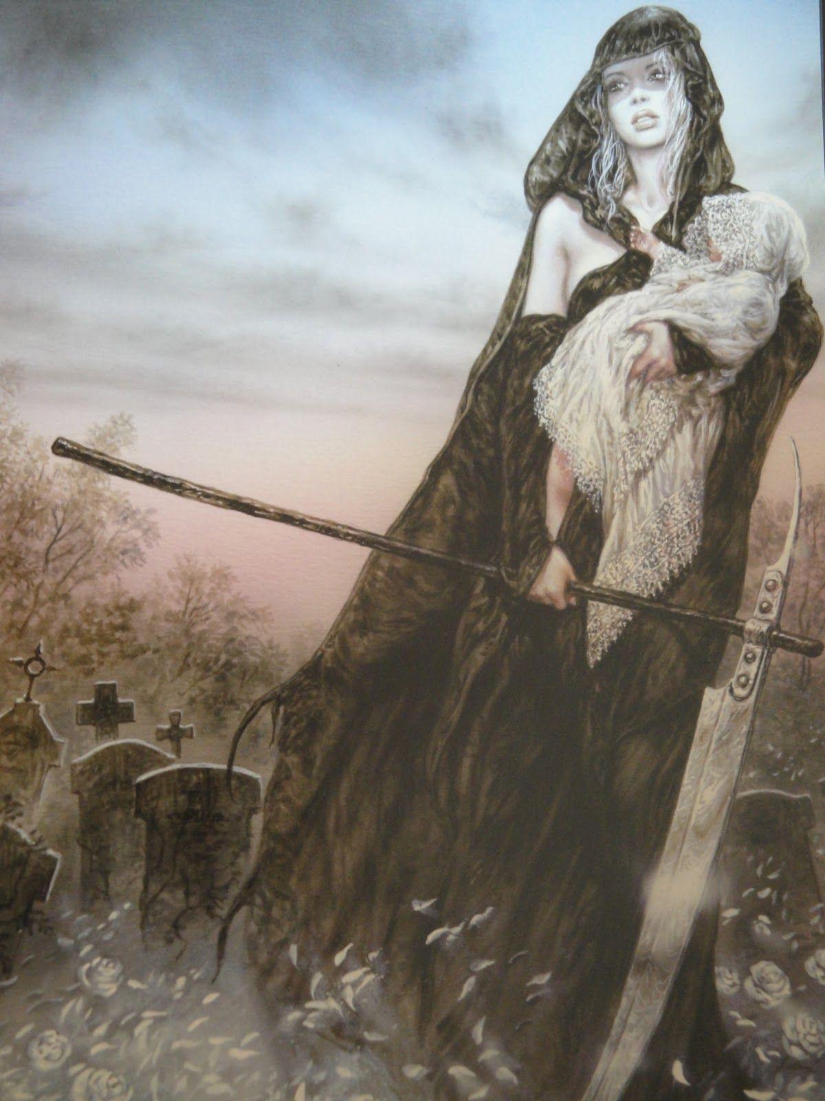 Hel Norse goddess of death. Daughter of Loki.Ruler of Hell located in Niflheim.