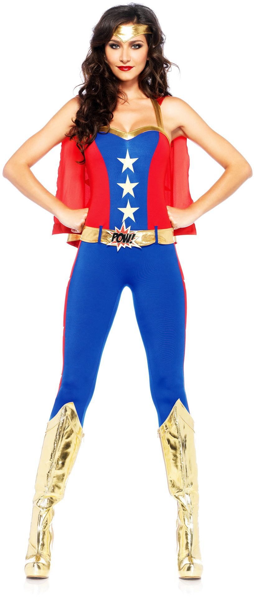 Sexy Wonder Woman Marvel Comic Catsuit Outfit Superhero ...