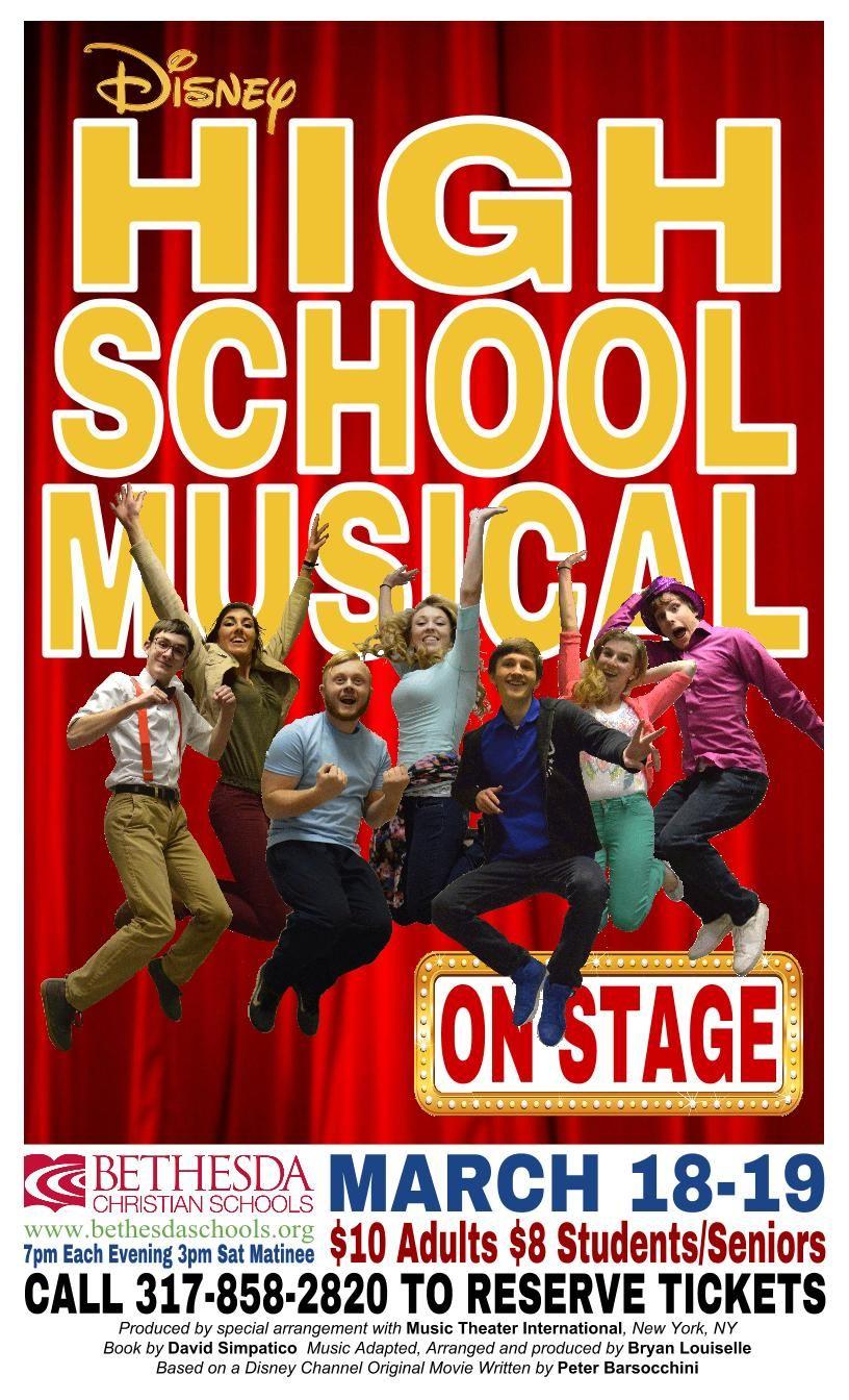 High School Musical Poster High School Musical Disney High