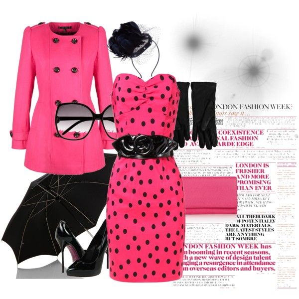 Black & Pink, created by Look By Amina Allam
