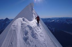 Climbing Mount Cook! Although now looking at this I think I should try a few other mountains first!