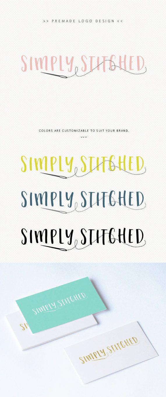 Needle and Thread Logo - Seamstress Logo - Sewing Logo - Handmade ...