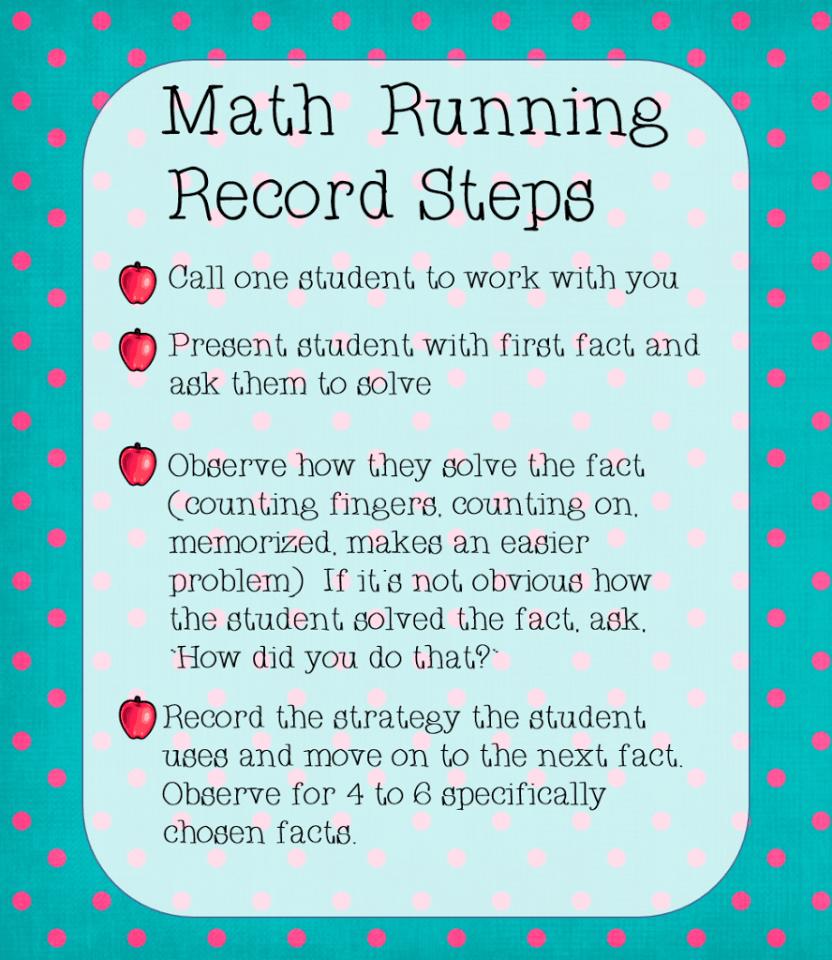 Math Fact Running Record | school | Pinterest | Math facts, Math and ...