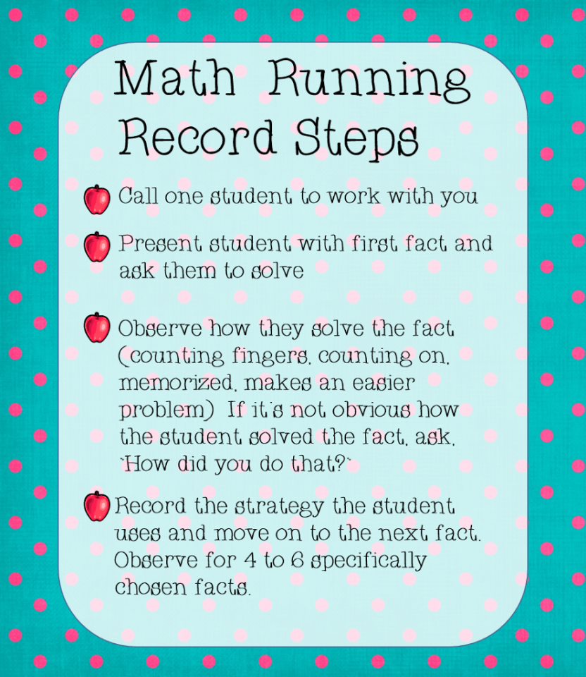 Math fact running record math facts math and running guided math gamestrikefo Choice Image