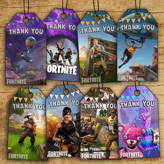 Item Description: Fortnite Birthday Thank You Tags By ...