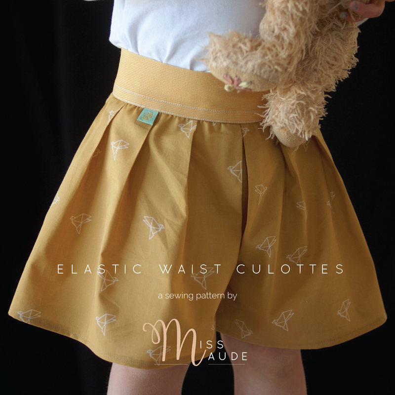 Free Pattern - Girl\'s Elastic Waist Culottes Sewing Pattern by Miss ...