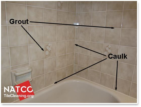 shower with grout and caulk in it Shower tile, Grout, Caulk