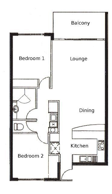 2 Bed Apartment Plan 2 Bedroom Apartment Floor Plan Apartment Floor Plan Apartment Layout