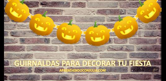 Guirnalda calabaza decorar fiesta halloween imprimible - Decorar calabaza halloween ninos ...