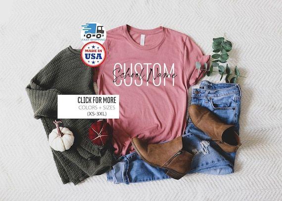Custom School Spirit Shirt Custom Teacher Shirts Custom | Etsy