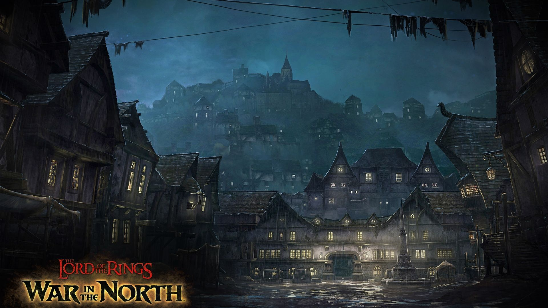 The town of Bree from The Lord of the Rings game War In
