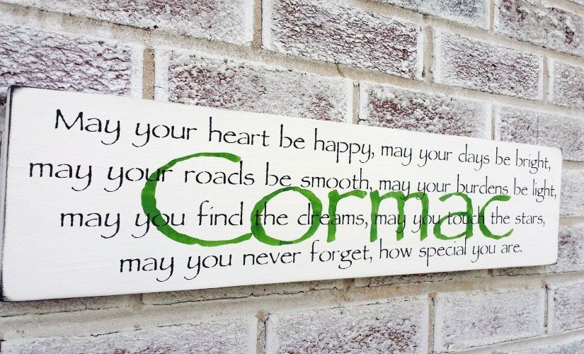 Name Signs In Wood Irish Baby Nursery Décor Customized Wall Art Sayings