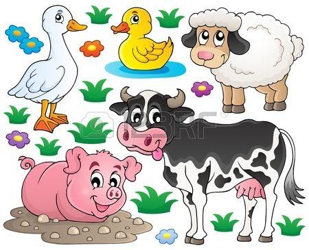 Farm Animals Set 1 Eps10 Vector Illustration Farm Animals Funny Illustration Animal Clipart
