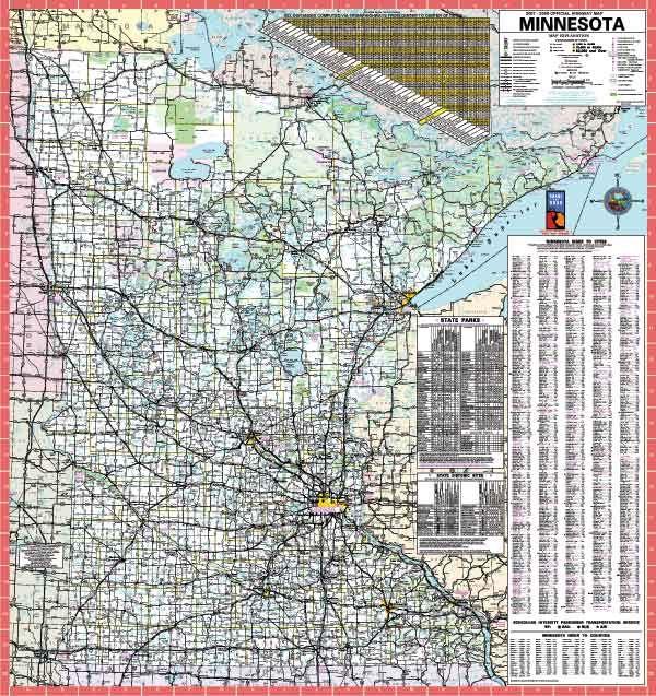 minnesota state executive wall map 60 laminated 36x40 on laminated wall maps id=65292