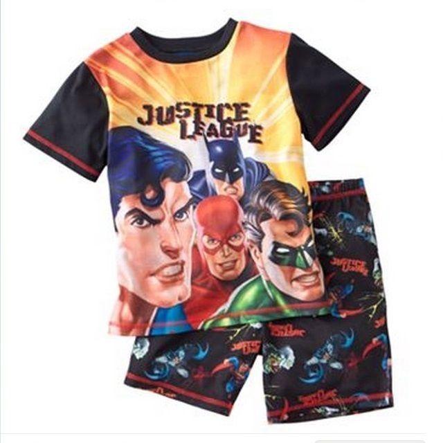 66c6575b9f01 JUSTICE League Pajamas Boy s 6 NeW Shirt Shorts Pjs Set Green Lantern  Superman  19.99  DCComics  PajamaSets