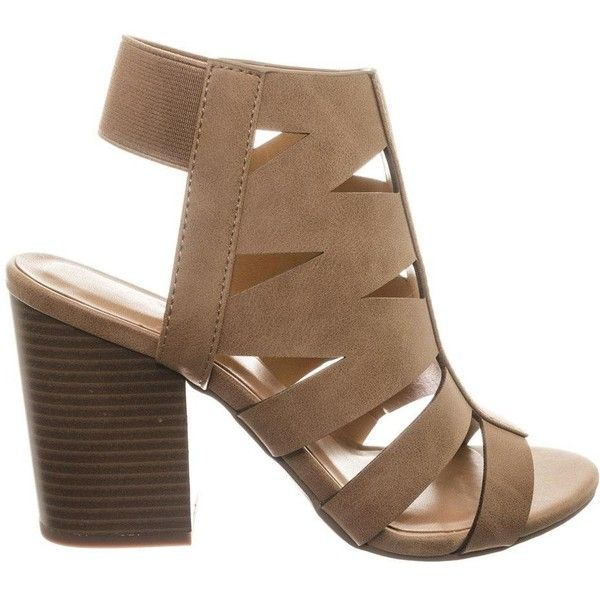 fa9f35ab2fe Eve Gladiator Cutout Ankle Bootie Sandal On Chunky Block Heel ( 31) ❤ liked  on Polyvore featuring shoes
