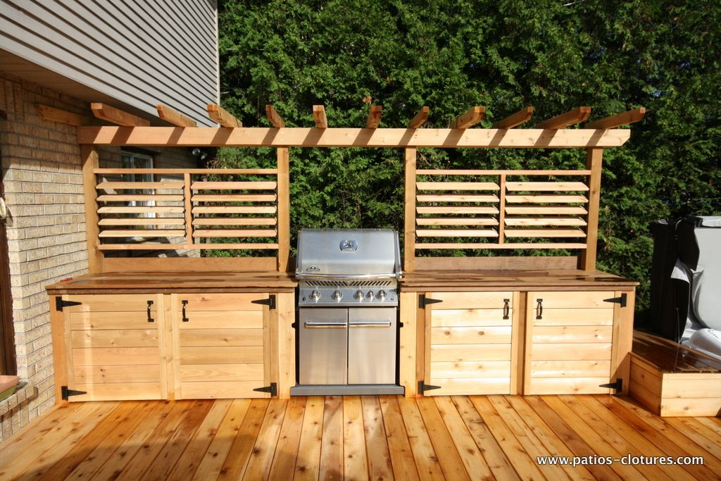 Share it now share it now cet am nagement de cuisine for Plan de patio exterieur en bois