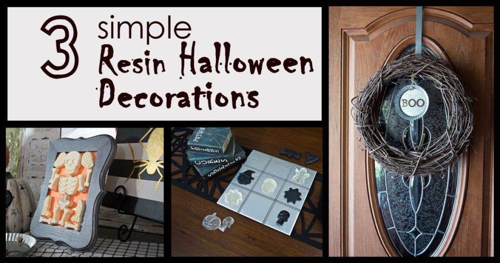 3 Simple DIY Resin Halloween Decorations! Crafts Resin Pinterest - halloween decorations com