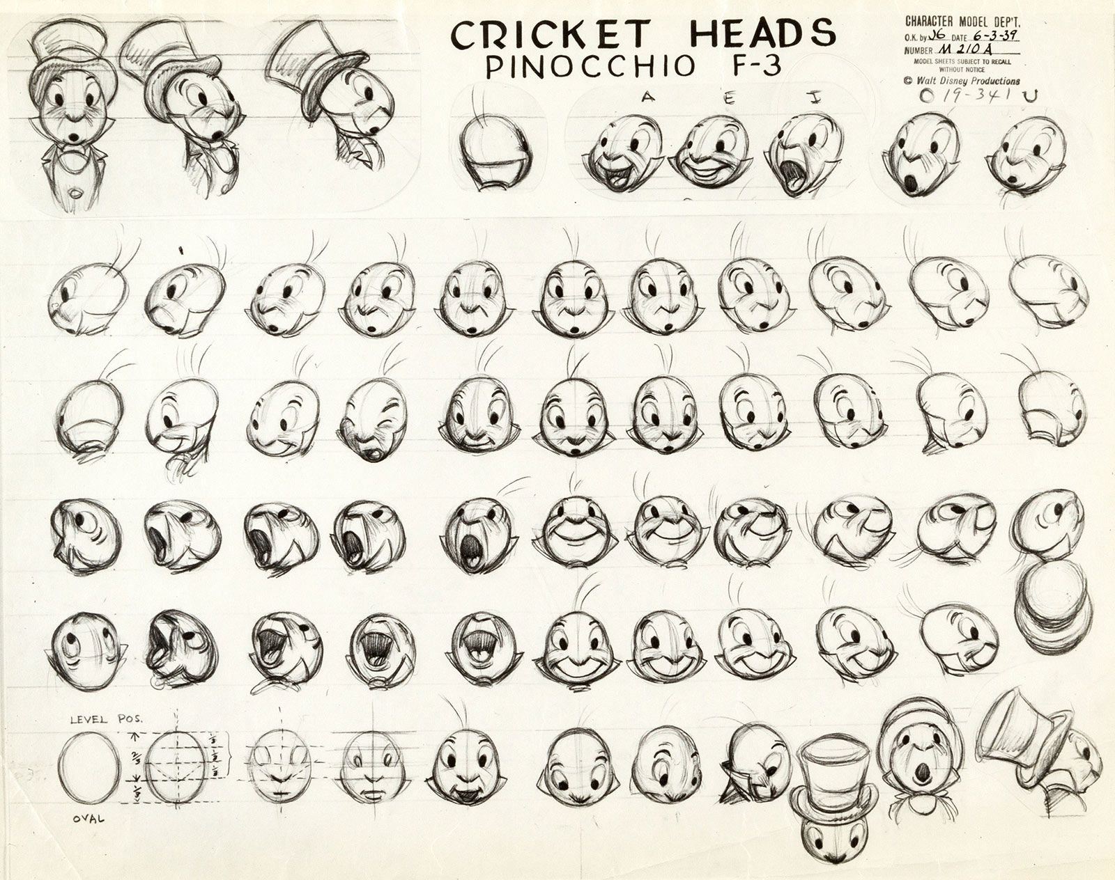 Character Design Challenge Facebook : Jiminy cricket ward kimball walt disney productions