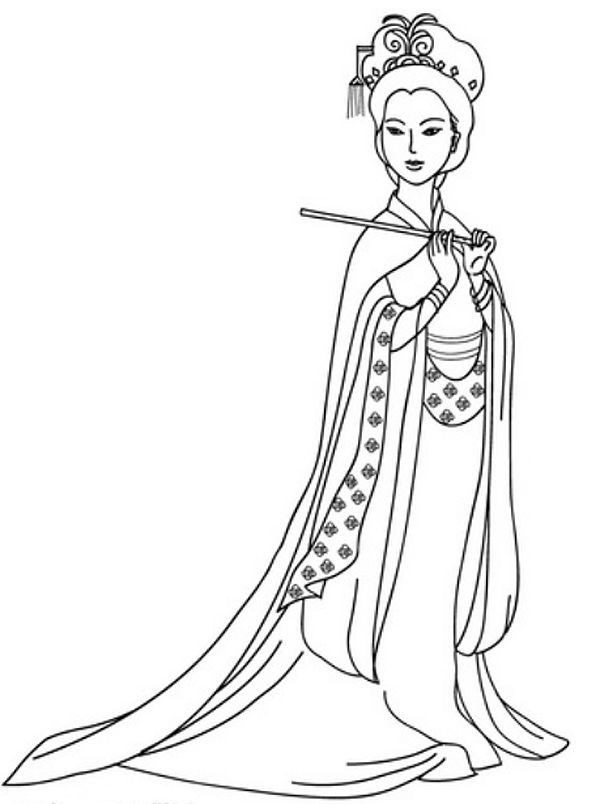 Chinese China Barbie Coloring Pages Barbie Coloring Pages