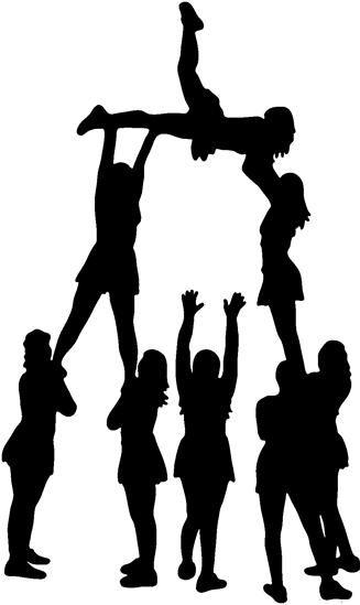 Cheerleading Silhouette Clip Art Cheer Clipart Cheer Pyramids