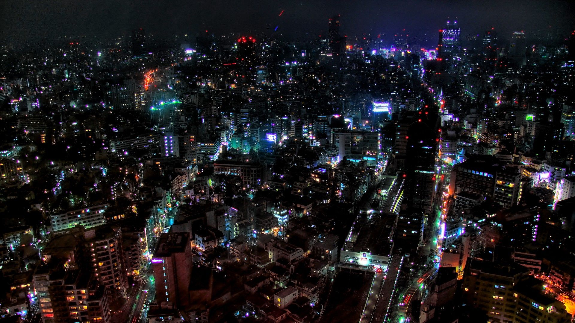 Pin By London Nance On Nebulae Anime City City Lights Wallpaper Tokyo Night
