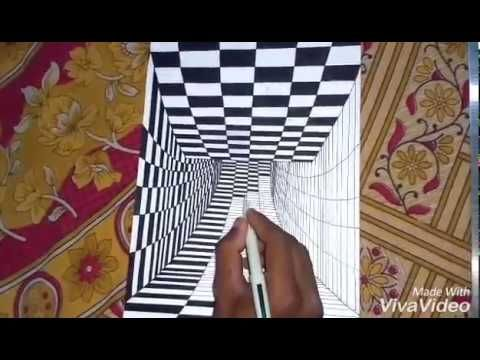 How To Draw 3d Art Drawing Tunnel Youtube