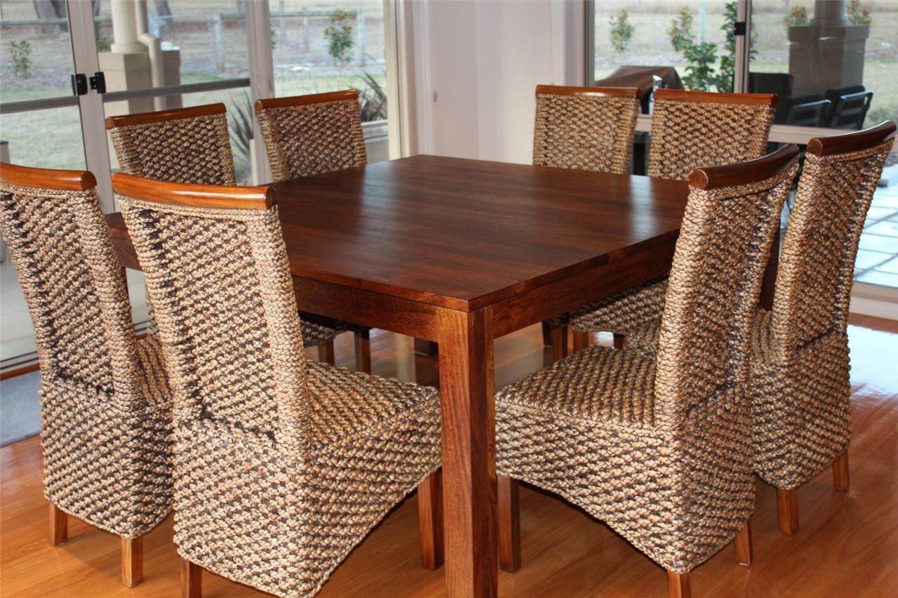 Snazzy Rattan Upholstered Chairs Also Light Wood Floor And Simple Best Round Dining Room Table Seats 8 Decorating Inspiration