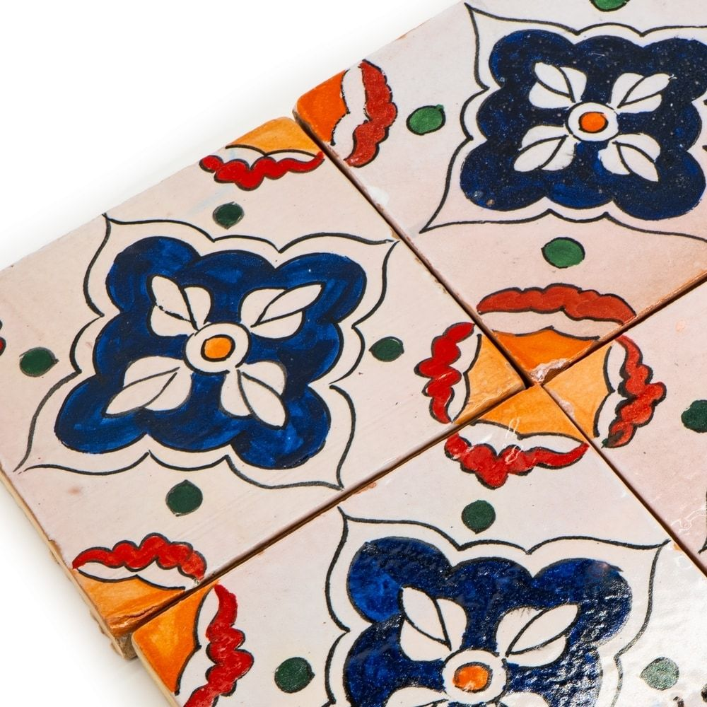 hand painted moroccan tile painting