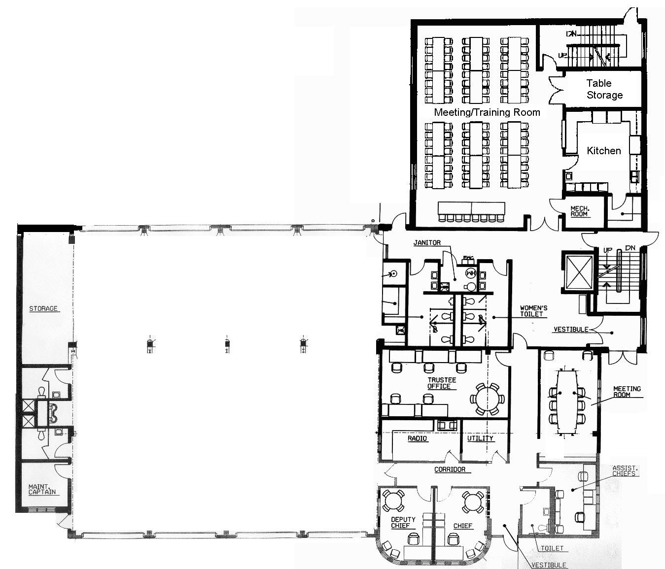 Nice Small Fire Station Floor Plans With Click Image To Enlarge Jpg 1349 1155 Fire Station Floor Plans How To Plan