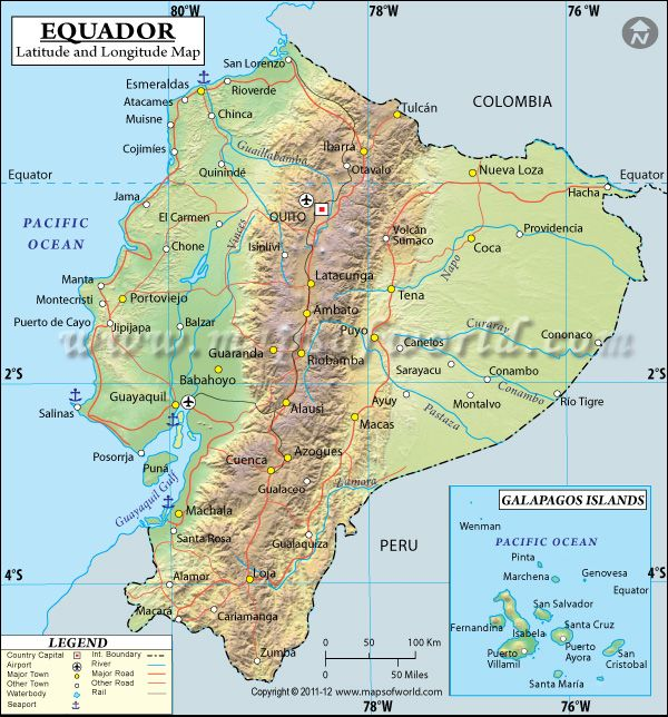 Ecuador latitude and longitude map favorite places spaces latitude and longitude of ecuador is 2 degrees s and 77 degrees w find ecuador latitude and longitude map showing comprehensive details including cities gumiabroncs Images
