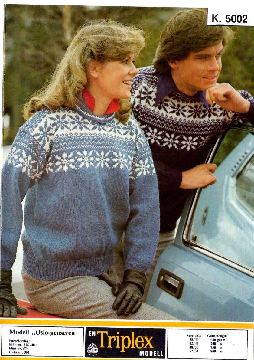 Oslo genseren k 5002   Genser, Gensere, Strikking