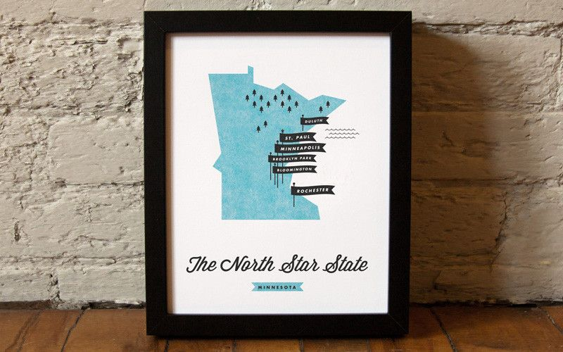 Love this! Minnesota State Map