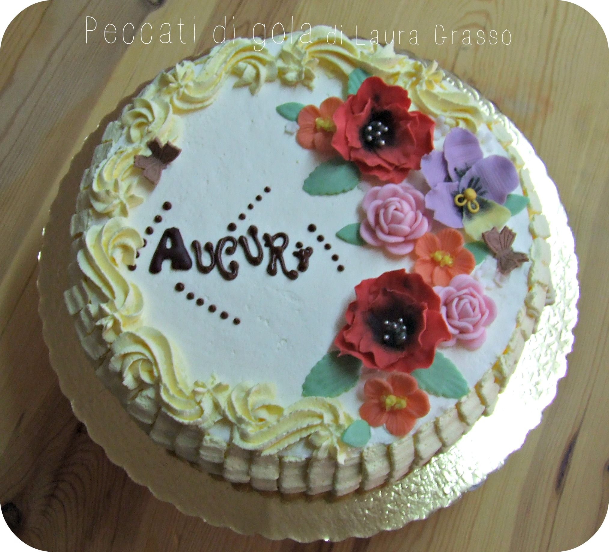 Happy Birthday Flower Cake For Cecily Traditional Cakes