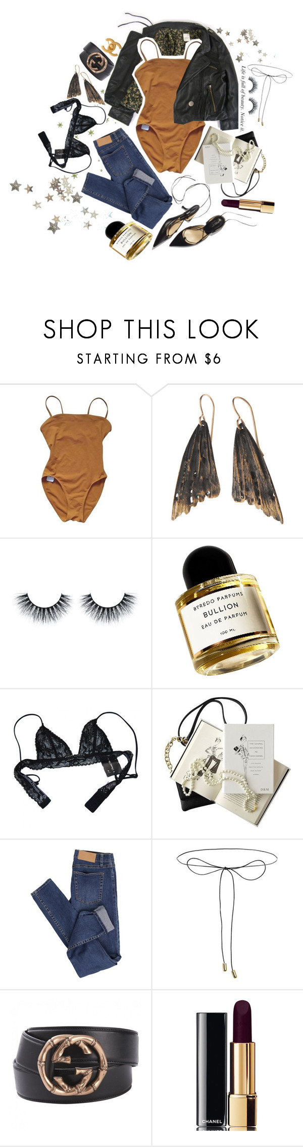 """Comfortable Silence is so Overrated"" by immi-bowyer ❤ liked on Polyvore featuring Eres, AURUM by Guðbjörg, Byredo, Chantal Thomass, Chanel, Cheap Monday, Lilou and Gucci"